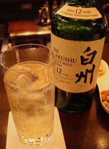 赤坂 エンターテインメントバー Bar Gatsby 白州12年ハイボール